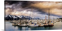 A Dramatic Sunset over Resurrection Bay, Seward, Alaska