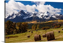 Bales of Hay on Ralph Lauren&amp;#39;s Double RL Ranch; Ridgway, Colorado