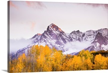 The Sun Paints the Sky and Leaves of Fall, Telluride, Colorado