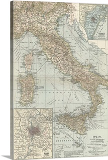 Italy - Vintage Map