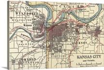 Kansas City - Vintage Map
