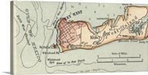 Key West Island - Vintage Map
