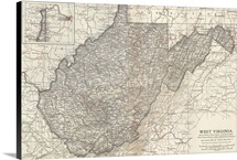 West Virginia - Vintage Map