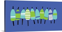 Buoy Line Blue On Blue