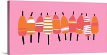 Buoy Line Pink On Dark Pink