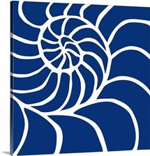 Nautilus White On Blue
