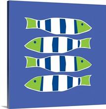 Picket Fish cobalt square