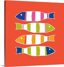 Picket Fish persimmon square