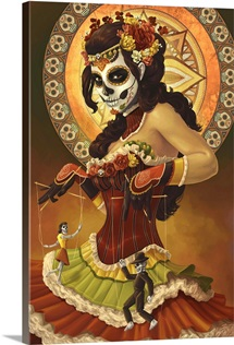 Day of the Dead - Marionettes: Retro Art Poster