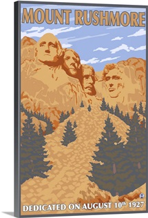 Mt. Rushmore National Park: Retro Travel Poster