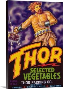 Thor Vegetable Label, Holtville, CA