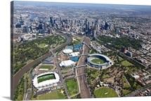 Australian Open Tennis Venues, Melbourne Park - Aerial Photograph