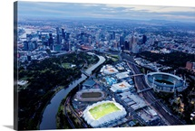 Australlian Open Tennis Venues, Melbourne Park - Aerial Photograph