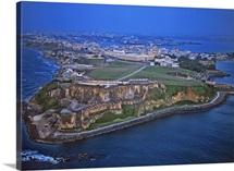 El Morro And Old San Juan, San Juan, Puerto Rico - Aerial Photograph