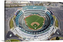 Oakland Raiders Stadium, Oakland, California - Aerial Photograph