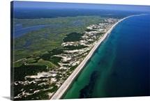 Sandy Neck Beach And Sandwich, Barnstable, Cape Cod - Aerial Photograph