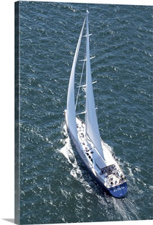 Shipyard Cup 2013, Boothbay Harbor, Maine, USA - Aerial Photograph