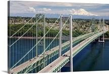 Tacoma Narrows Bridge, Tacoma, Washington - Aerial Photograph