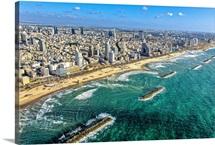 Tel Aviv Shore Line, Tel Aviv - Aerial Photograph