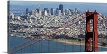 The Golden Gate Bridge, San Francisco, California - Aerial Photograph