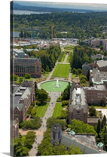 University of Washington, Seattle, Washington - Aerial Photograph
