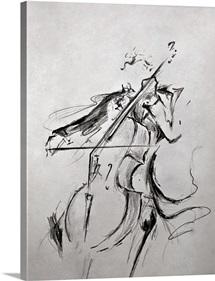 The Cellist - Sketch