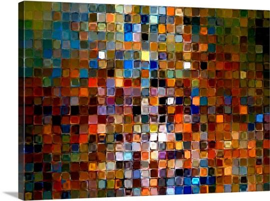 Tile Art 1 2007 Photo Canvas Print Great Big Canvas