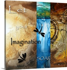 Let Your Imagination Soar - Inspirational Dragonfly Art
