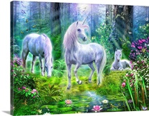 Forest Unicorn Family I
