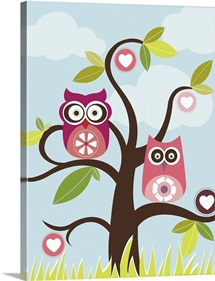 Love Birds In Tree