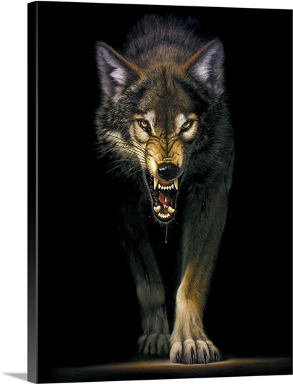 Stalking Wolf Wall Art Canvas Prints Framed Prints Wall