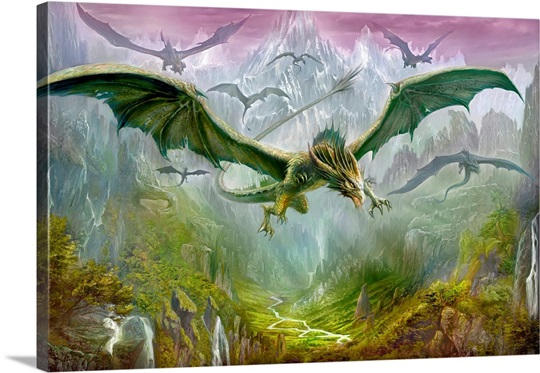 The Valley Of Dragons Photo Canvas Print Great Big Canvas