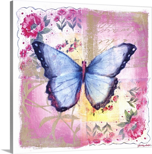 Blue Butterfly Pink