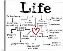 Life Chart white