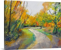 Autumn Woodland Path