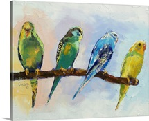 Four Parakeets