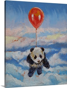 Panda Balloon Ride - Children's Art