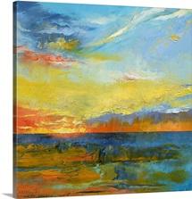 Turquoise Blue Sunset