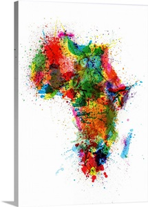 Africa Paint Splashes