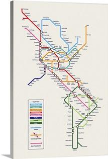 Americas Metro Map