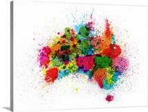 Australia Paint Splashes