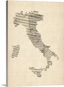 Italy Sheet Music Map