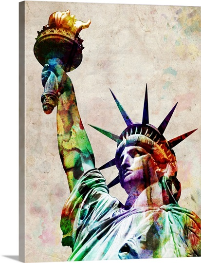Statue of Liberty watercolor illustration