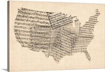 United States Sheet Music Map