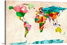 World Map Watercolors