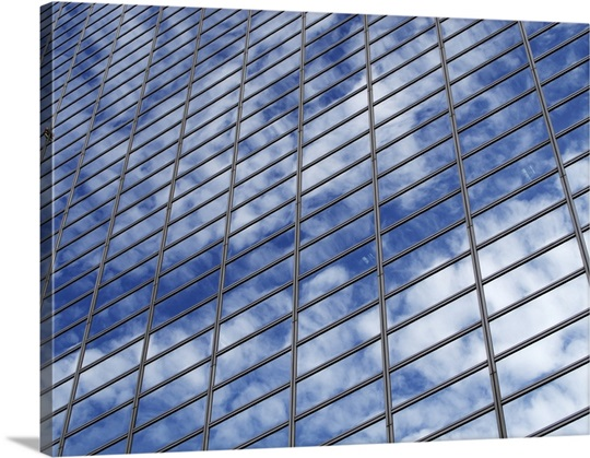 Clouds reflected in building, Seoul, South Korea