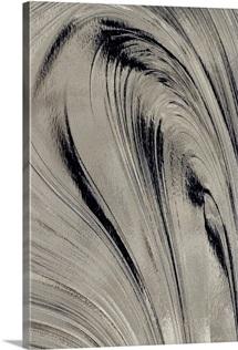 Black and Grey Liquid Flow
