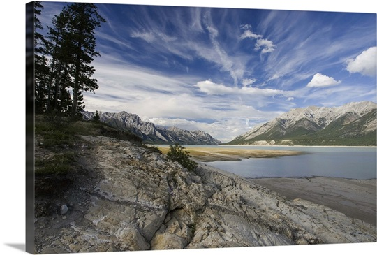 Abraham Lake on the North Saskatchewan River, Jasper National Park, Canada