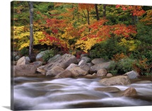 Autumn along Swift River White Mountains National Forest New Hampshire