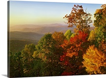 Blue Ridge Mountains from Bluff Mountain Overlook, North Carolina